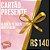 CARTÃO PRESENTE R$ 140,00 - Imagem 1