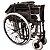 Cadeira De Rodas Adulto Em Aço Dobrável D400 T48 Dellamed - Imagem 4