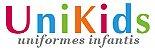 Conjunto - Avental + Gorro Infantil Unikids - Pink Listras Coloridas - Uniblu - Imagem 2