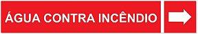 Etiqueta Adesiva Identificação de Tubulação Água Contra Incêndio - Imagem 1