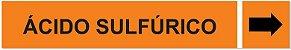 Etiqueta Adesiva Identificação de Tubulação Ácido Sulfúrico - Imagem 1