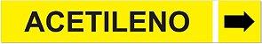 Etiqueta Adesiva Identificação de Tubulação Acetileno - Imagem 1