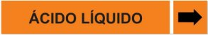 Etiqueta Adesiva Identificação de Tubulação Ácido Líquido - Imagem 1
