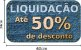 Adesivo de Vitrine Liquidação Até 50% de Desconto  - Imagem 1