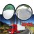 Par Espelho retrovisor auxiliar redondo (Olho de boio) c/ diâmetro de 90mm (9cm) ou 3 Polegadas e 1/2 Biônico - Imagem 1