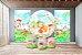 Super Kit Painel De Festa e Capas de Cilindro em tecido sublimado Jardim das Bonecas - Imagem 2