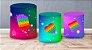 Kit Capas de Cilindro de festa em tecido sublimado Fidget Toys Estrelinhas - Imagem 2