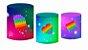 Kit Capas de Cilindro de festa em tecido sublimado Fidget Toys Estrelinhas - Imagem 1