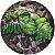 Painel De Festa Em Tecido Abre Fácil Vingadores Hulk 1,55m - Imagem 1