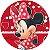 Painel De Festa Em Tecido Abre Fácil Minnie 1,55m - Imagem 1