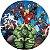 Painel De Festa Em Tecido Abre Fácil Vingadores 1,55m - Imagem 1