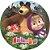 Painel De Festa Em Tecido Abre Fácil Masha e o Urso 1,55m - Imagem 1