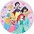 Painel De Festa Em Tecido Abre Fácil Princesas Disney 1,55m - Imagem 1