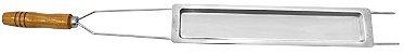 Espeto Duplo Aço Cromado com Assador Queijo 85 cm - Imagem 1