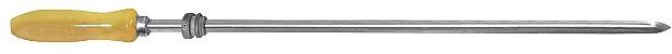 Espeto Inox com Roldana para Grill 072cm x 1,2mm (cabo 12 cm) -  - Imagem 1