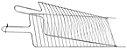 Grelha Dupla Aço Cromado para Peixe 74 cm - Imagem 2
