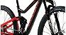 Audax FS400 Full Deore Preto Vermelho - Imagem 6