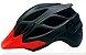 Capacete Jet Guardian (G) Preto Fosco/Vermelho Neon 22436 3698 - Imagem 1