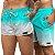 Short Jon Cotre Degrade Aqua Kit casal - Imagem 1
