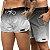 Short Jon Cotre Degrae Preto e Branco Kit Casal - Imagem 1
