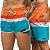 Short Jon Cotre Orange Colors Kit Casal - Imagem 1