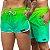 Short Jon Cotre Degrade Verde Neon Kit Casal - Imagem 1