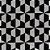 Tapete Sala / Quarto / Simetria 30 Offwhite Preto Resistente e Confortável - Imagem 1