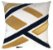 Almofada Veludo Com Aplique Boucle Dourado  013-02  | 52x52 - Imagem 1