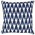 Almofada Crochê Tramado Azul e Branco  019-22    52x52 - Imagem 1