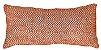 Almofada Baguete Croche Tramado Ocre e Branco  020-14  | 25x52 - Imagem 1