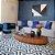 Tapete Sala / Quarto / Exclusivo Barroso Azul e Bege  77/75 - Edição Limitada - Imagem 1