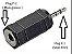 Adaptador Plug P1 Macho x Plug P2 Fêmea - Imagem 1