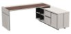 Mesa em L diretor Linha Prime  confeccionada em MDP com tampo superior em vidro! - Imagem 7