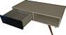 Mesa de apoio com uma gaveta, possui pés angulares em madeira  - Imagem 6