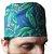Eketé azul com flores verdes - Imagem 2