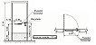 Placa De Proteção ou chapa de impacto para porta inox PNE 92 Cm - 1045 - Imagem 4
