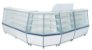 Balcão Seco Expositor de Produtos com Vidro Frontal 140cm - Artlux - Imagem 2