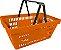 Cesto de Compras Plástico Embalagem com 10 peças - Amapá - Imagem 3