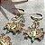 Brinco Medalha São Bento e Cristais Coloridos Folheado Ouro 18k - Imagem 4