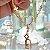 Pulseira Coração Chave e Cadeado Folheado Ouro Amarelo 18k - Imagem 2