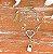 Pulseira Coração Chave e Cadeado Folheado Ouro Amarelo 18k - Imagem 3