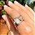 Anel Santa Cruz Coração Patuá Branco Folheado Ouro Rosé 18k - Imagem 2