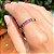 Anel Bolinhas Cristais Coloridos Folheado Ouro Rosé 18k - Imagem 1