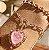 Pulseira Coração Turmalina Rosa Fusion Folheado Ouro Rosé 18k - Imagem 2