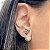 Brinco Ear Jacket Cristais Turmalina Rosa e Peridoto Fecho Pérola em Prata925 - Imagem 2