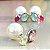 Brinco Ear Jacket Cristais Turmalina Rosa e Peridoto Fecho Pérola em Prata925 - Imagem 4