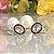 Brinco Ear Jacket Cristais Turmalina Rosa e Peridoto Fecho Pérola em Prata925 - Imagem 1