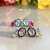 Brinco Ear Jacket Cristais Rubi e Topázio Azul Fecho Pérola em Prata925 - Imagem 5