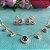 Colar Cristais Geométricos Cravejados Folheado Ouro Rosé 18k - Imagem 4