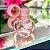 Anel Coração Vazado Colorido Folheado Ouro Rosé 18k - Imagem 4